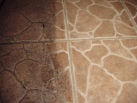 Single Pass of Rotovac 360 on Tile & Grout