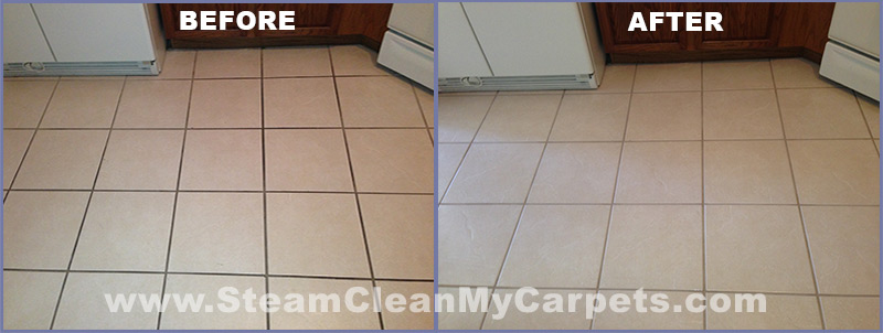 Tile Cleaning Video Kitchen Tile Grout Demo Steam Clean My